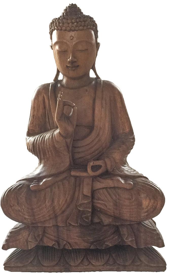 Buddha holz feinpoliert holzfigur deko bali figur 40 cm for Buddha figur holz
