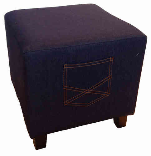 Jeans Hocker Denim Ottoman Sitzhocker Route 66 Standfuss