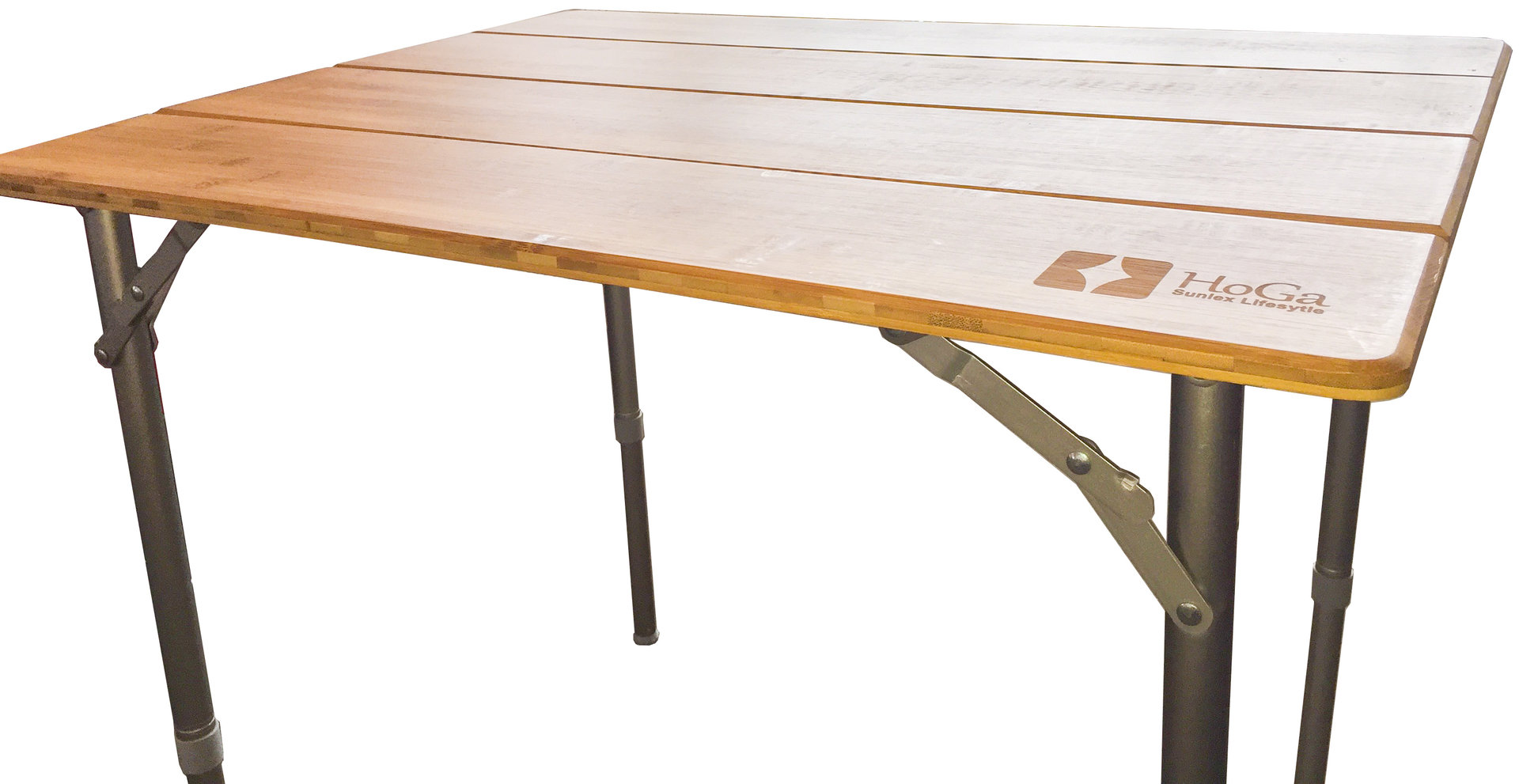 HoGa Sunlex PIKO Bambus Alu Tisch Klapptisch Campingtisch GF14